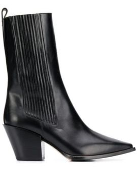 Ari Ribbed Ankle Boots - Aeyde