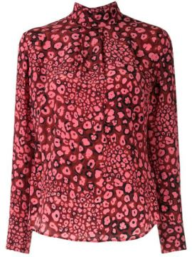 Dotted Silk Blouse - Cefinn