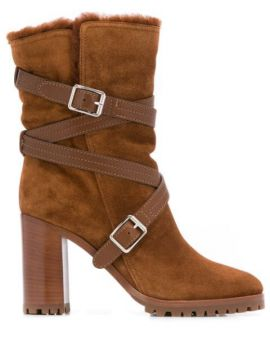 Buckled Ankle Boots - Gianvito Rossi