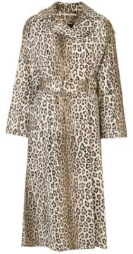 Casaco Com Cinto E Animal Print - Emilia Wickstead