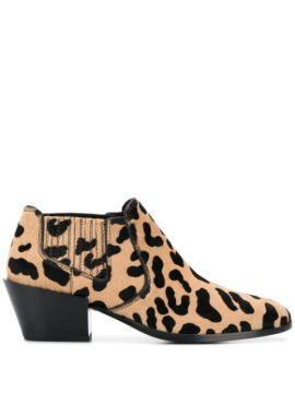 Leopard Pattern Boots - Tods