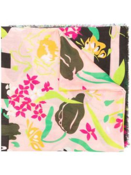 Floral Print Scarf - Moschino