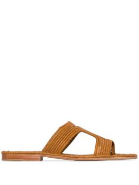 Moha Raffia Flat Sandals - Carrie Forbes