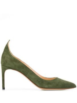 Textured Pointed Toe Pumps - Francesco Russo