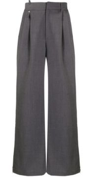 Wide Leg Straight Trousers - Ader Error
