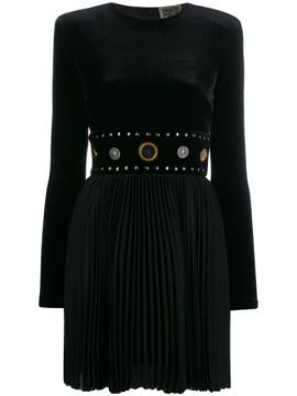 Pleated Studded Waistband Dress - Fausto Puglisi