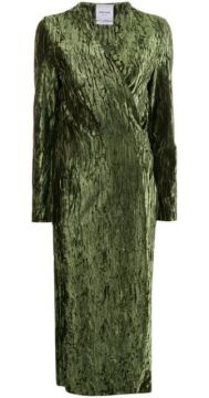 Claire Wrinkled-effect Dress - Black Coral