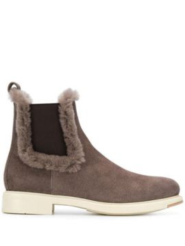 Trimmed Pull-on Ankle Boots - Santoni