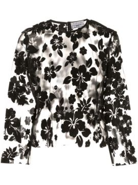 Sheer Floral Embroidered Blouse - Ashley Williams
