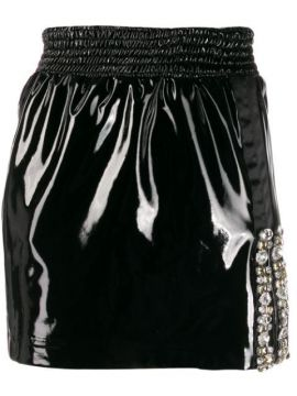 Fitted Embellished Mini Skirt - Frankie Morello