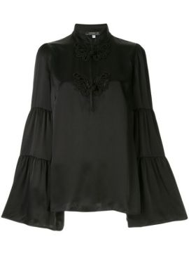 Embroidered Flared Blouse - Andrew Gn