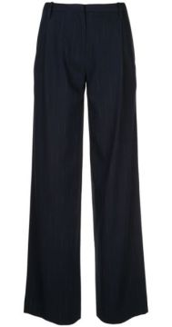 Faded Pinstripe Trousers - Dion Lee