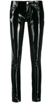 Glossy-effect Skinny Trousers - Frankie Morello