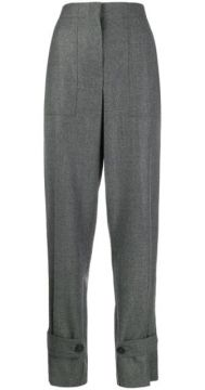 High-waisted Ankle Strap Trousers - Helmut Lang