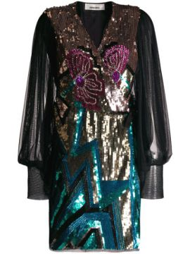 Sequin Embroidered Dress - Circus Hotel