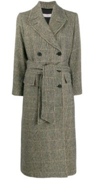 Double-breasted Houndstooth Coat - Alberto Biani