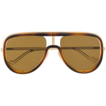 Framed Aviator Sunglases - Fendi Eyewear