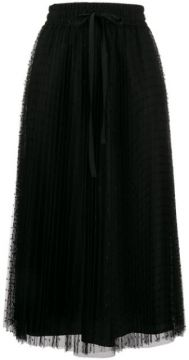 Red(v) Point Desprit Pleated Skirt - Red Valentino