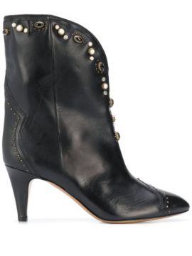 Dythey 75mm Embellished Ankle Boots - Isabel Marant