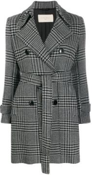 Houndstooth Double-breasted Coat - Circolo 1901