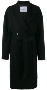 Belted Double-breasted Coat - Dondup