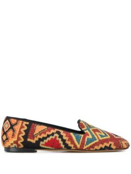 Embroidered Slippers - Etro