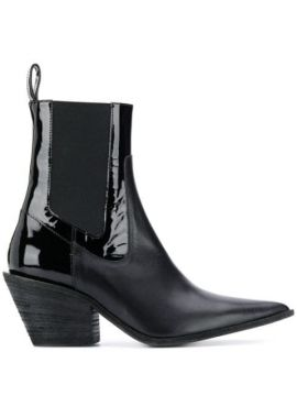Patent Panel Boots - Haider Ackermann