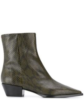 Ruby Snake Print Ankle Boots - Aeyde
