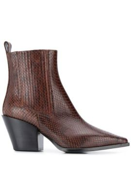 Kate Snakeskin Effect Boots - Aeyde