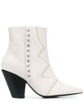 Embroidered Ankle Boots - Toga Pulla