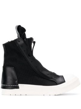 Zipped High Top Sneakers - Cinzia Araia