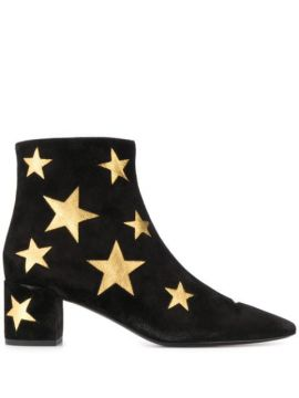 Ankle Boot Com Patch De Estrela - Saint Laurent