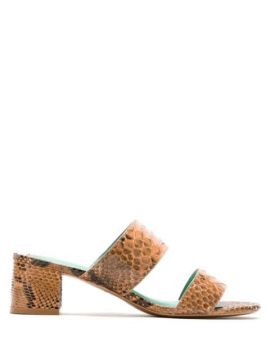 Mule De Salto Python - Blue Bird Shoes