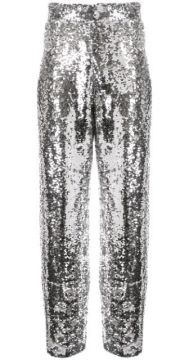 Sequinned Straight Leg Trousers - Bouguessa