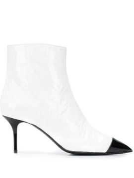 Two-tone Pointed Toe Boots - Msgm