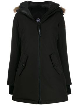 Faux Fur Hooded Parka - Canada Goose