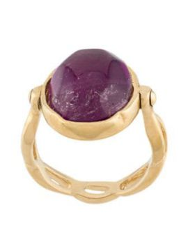 Gold-plated Cabochon Ring - Goossens