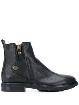 Button Over Ankle Boots - Agl