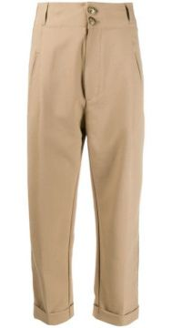 High-waisted Slim Trousers - Dondup