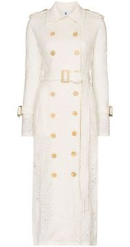 Belted Lace Trench Coat - Asai