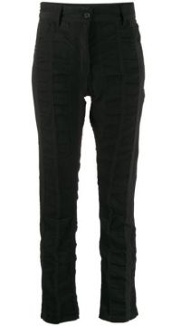 Smocked Panel Slim Fit Trousers - Ann Demeulemeester
