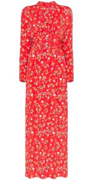 Floral Print Maxi Dress - Bytimo
