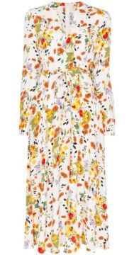 Floral Print Tie-waist Maxi Dress - Bytimo