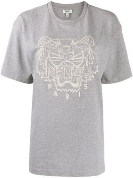 Tiger Embroidered T-shirt - Kenzo
