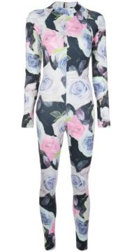 Dani Floral-print Fitted Jumpsuit - Fantabody