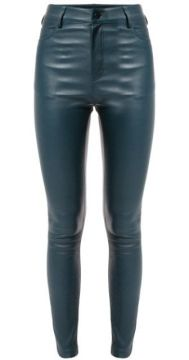 High-waisted Leather Trousers - Drome