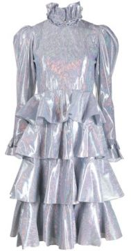 Iridescent Tiered Midi Dress - Batsheva