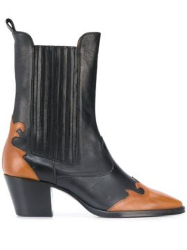 Contrast Ankle Boots - Paris Texas