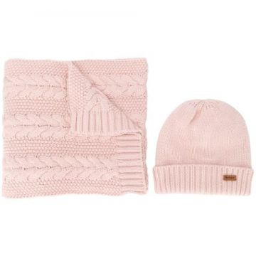 Cable Knit Scarf Set - Barbour
