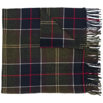 Checked Fringed Scarf - Barbour